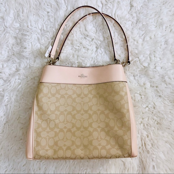 Coach Handbags - BRAND NEW Pink and Tan Coach Purse